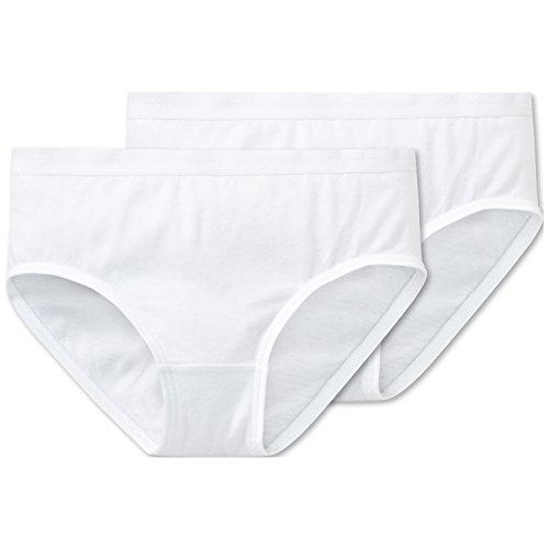Schiesser Mädchen 95/5 Multi-Pack 2Pack Slips Unterhose, (Weiss 100), (Herstellergröße: 128) (2erPack)