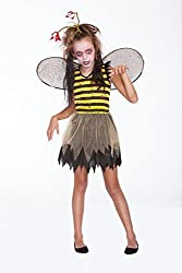 Halloween Wholesalers Girl's Zombee-Small/Medium Yellow