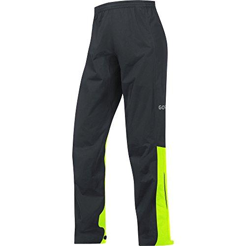 Gore Wear Herren C3 Tex Active Hose, Black/Neon Yellow, S (Reißverschlusstasche Hinten)