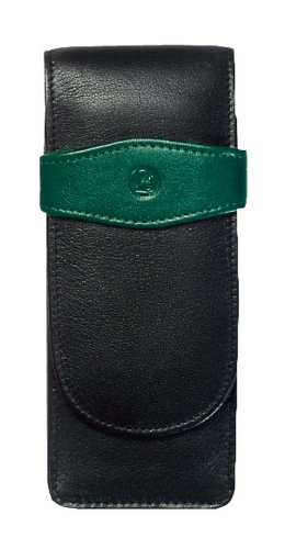 Now you can transport your Pelikan writing instruments knowing that they are protected in this premium triple black and green leather case. The Pelikan Leather Pen Case is hand-crafted out of dyed soft leather with no artificial surface treatment and...