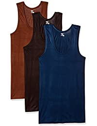 Rupa Jon Men's Cotton Vest (Pack of 3) (Colors May Vary)