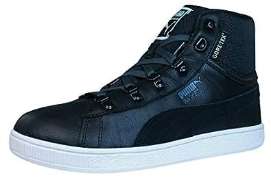 Puma Basket Classic Mid GTX Herren Leder Hi Top Sneaker / Schuhe-BLACK-45
