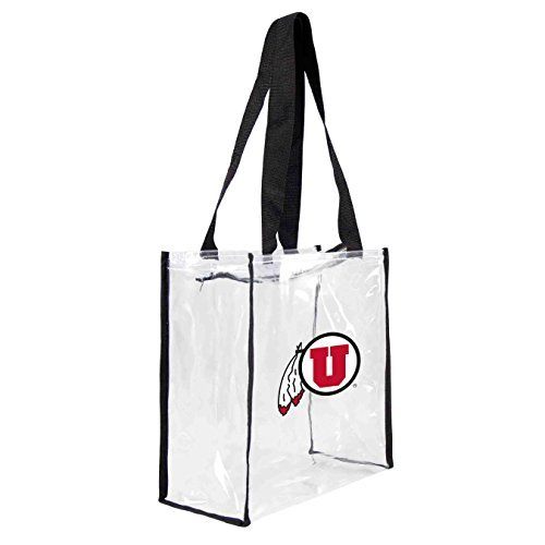 ncaa-utah-utes-square-stadium-tote-115-x-55-x-115-inch-clear-by-littlearth