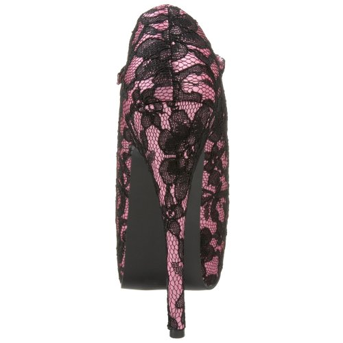 Bordello tee07l/HP 5 femmes H. Pink Satin-Blk Lace