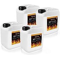 Bioetanol para chimeneas de alcohol, 100 %, 4 x 5 litros