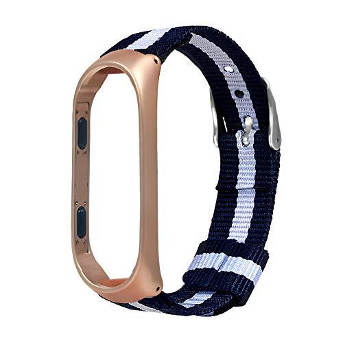 (BBring Für XIAOMI MI Band 3 Armband, Luxus Nylon Ultradünnes Metall Armband Armband Uhrenarmband für Xiaomi Mi Band 3 (Silber))