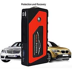 Auto Portatile Jump Starter 12V Benzina Auto Emergenza Batteria Booster Pack 600A Picco 18000MAH Con LED Torcia Enhanced Edition
