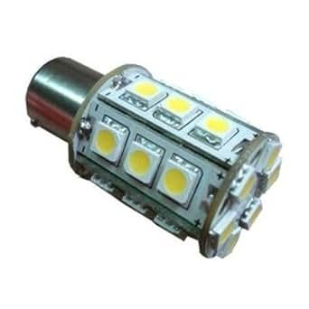 HQRP BA15s 24 LEDs SMD 5050 Ampoule LED 6300-7000K 10-30V DC 3.4W 360 Lumen pour #93 382 1141 1156 1157 pour Auto Truck RV