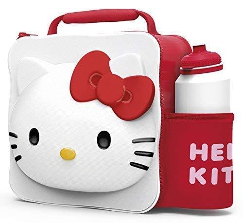 Hello Kitty Kinder Kinder 3D Lunchbox Tasche mit Sport Wasserflasche