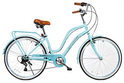 "HelloBikes Modell Florobella 26"" Damen City Fahrrad mit Shimano 7-Gang Kettenschaltung"