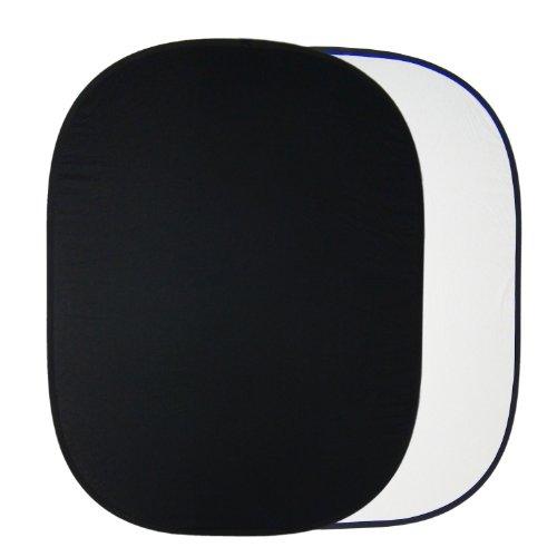 DynaSun Hintergrund Faltreflektor 2-in-1 Reflektor faltbar, 150x200 cm, XXL und Tasche schwarz/weiß