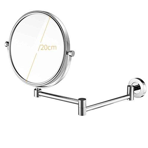 Miroirs Beauté Mur Salle De Bains Pliant Maison Chambre Salle de Bain Mur Télescopique 8 Pouces (Couleur : Silver)