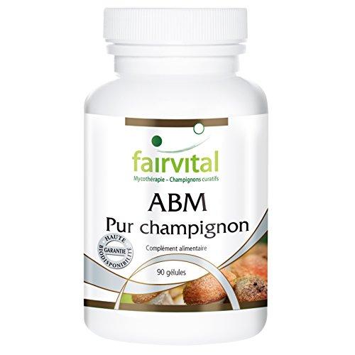ABM (Agaricus Blazei Murill) Pur champignon en poudre, 500mg, 90 gélules végétariennes