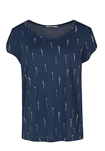 ARMEDANGELS Damen T-Shirt aus Tencel®-Mix - Luna Daisies - XL navy (Navy Daisy)