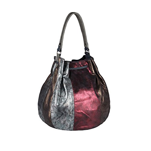 OBC Only-Beautiful-Couture, Borsa tote donna argento bronzo XL-XXL Silber-Taupe-Bronze