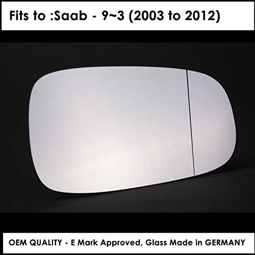 SA9-3 2003 to 2012 Silver Wide Angle Wing/Door Mirror for sale  Delivered anywhere in UK