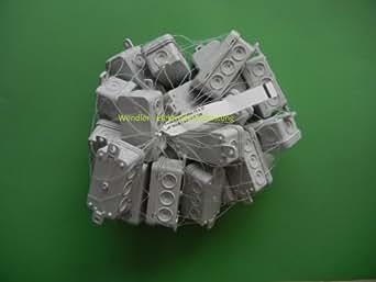 Lot de 20 boîte de dérivation pour boîte de dérivation 75 x 37 x 40 mm 400 2,5 mm² protection iP 54