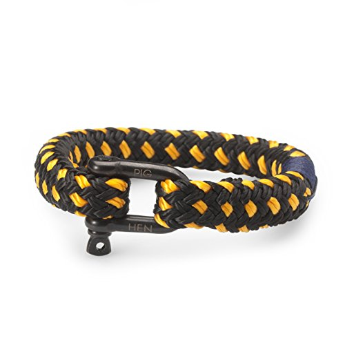 Pig and Hen Rum Ron Herren-Armband Black/Yellow P11-90301