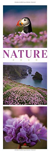 Nature 2020, Wandkalender im Hochformat (33x100 cm) - Inspirationskalender / Naturkalender / Triplets mit Monatskalendarium