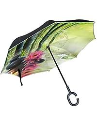 18f06c7c11dc COOSUN Lily Pietre bambù Zen Concetto Double Layer invertito Umbrella  Umbrella inversione per l automobile
