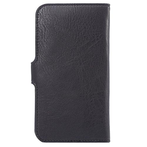 Phone case & Hülle Für IPhone 6 Plus / 6s Plus, Samsung Galaxy A8 / Note 5, Etc. 6,3 Zoll Universal Elefanten Haut Textur tragen Fall mit Wallet & Card Slots ( Color : Brown ) Black