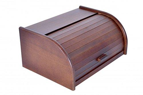Brotkasten aus Holz Retro mit verdeckter Verschluss Aufbewahrungsbox Retro Kassette für Brot Croissants Kekse