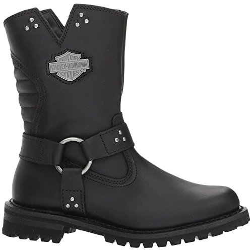 Harley-Davidson Womens Barford Black Leather Boots 39 EU