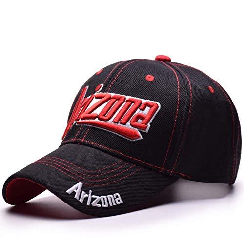 Arizona-schwarz-denim (ZHAOTD Baseballmütze Baseballmütze Unisex Sport Freizeit Hüte Arizona Stickerei Sport Mütze für Männer und Frauen Hip Hop Hats Sports Outdoor Baseball Cap (Farbe : Schwarz, größe : Adjustable))