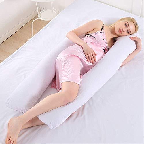 leihao888 Bettwäsche Kissen u Form Schwangerschaft Kissen ganzkörper Mutterschaft Kissen Komfort Schlaf unterstützung Kissen für Schwangere körperweiße Farbe -