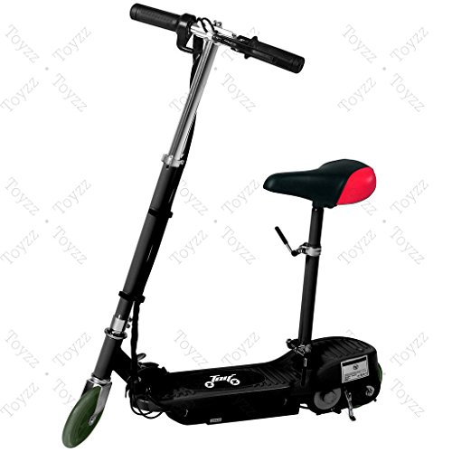 New 2017 Electric E Scooter Ride on Rechargeable Battery Removable Seat Kids Toys Ride On Cars 120W 24V Scooters (BLACK WITH SEAT)