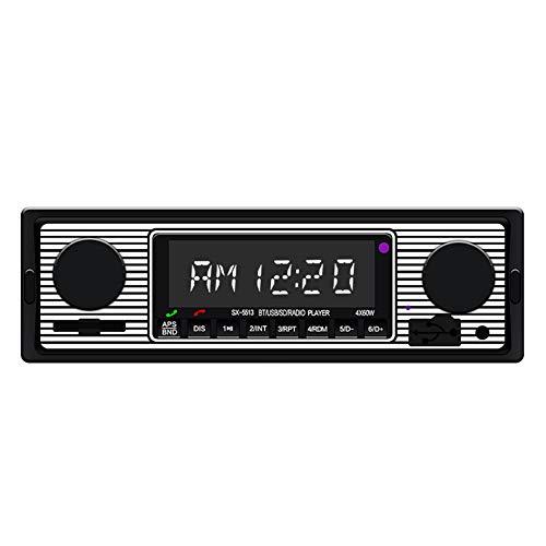 LanLan Grosses Soldes Autoradio Vintage Lecteur MP3 Stéréo USB AUX Audio Classique stéréo pour Voiture