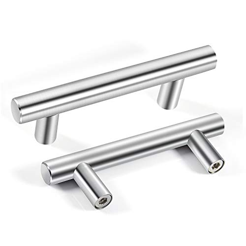 [12 pezzi] Ø12 mm Maniglie da cucina MOOKLIN Maniglie di mobili in Acciaio Inox per gli armadi,il mobili e la cucina - 64mm