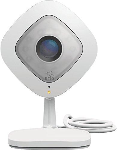Arlo Q Smart Home HD-Überwachungskamera (2-Wege-Audio, Geräusch-/Bewegungssensor, Nachtsicht, 130 Grad, 8-Fach Zoom, 24/7 Aufnahme, 1080p, WLAN) weiß, VMC3040 - Home-security-hardware