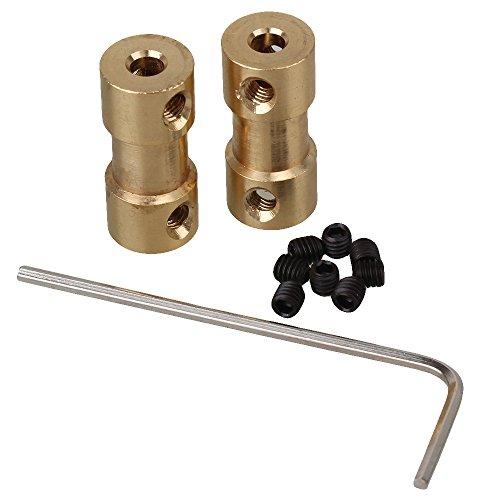 Motor Kupplung (cnbtr 3,17x 4mm Golden Messing Gelenk Motor Schaft Kupplung Adapter Stecker für RC Aircraft Set von 2)