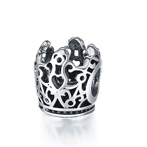 Hmilydyk Argent sterling 925King Couronne impériale Charms Pandora Bracelets européens pour charms.