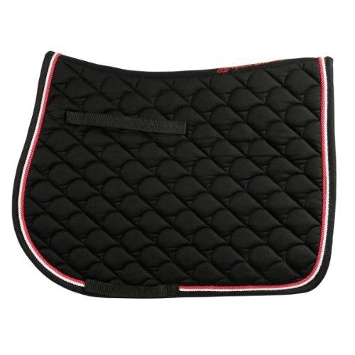 Pferde 60 Größe Decke (VS Schabracke mit zwei Kordeln, schwarz Full)