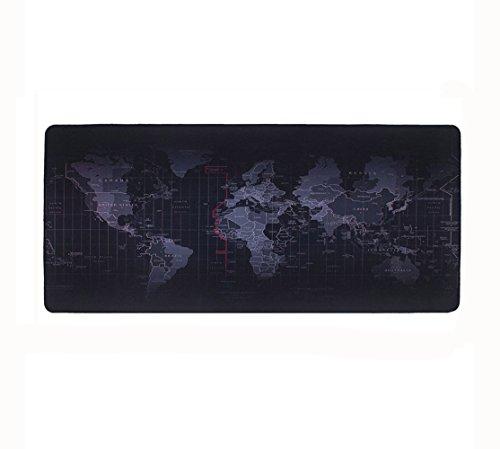 Doppelter Boden (halomy Gaming Maus Pad, Groß 90 x 40 x 0,2 cm Schreibunterlage Weltkarte Maus Pad mit rutschfester Boden, doppelt gewebt Stoff Oberfläche Design - Tight und glatte, Passform jeden Maus, Tastatur und Laptop)