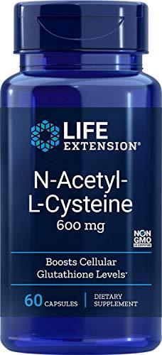 Life Extension | N-Acetyl-L-Cystein | 600 mg | 60 vegetarische Kapseln