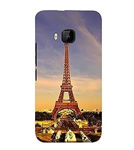 FUSON Eiffel Tower Paris Wonder 3D Hard Polycarbonate Designer Back Case Cover for HTC One M9 :: HTC One M9S :: HTC M9