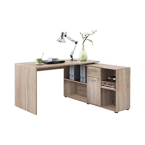 FMD Möbel 353-001 Schreibtisch-Winkelkombination Tisch ca. 136 x 75 x 68 cm, Regal ca. 137 x 71 x 33 cm - 2