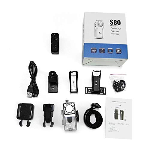 Mini 1080P Night Vision Camera S80 Professional HD 120 Degree Wide Angle Digital Camera DV Motion Detection Black Professional Night Vision