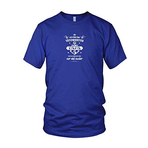 Tätowierter Papa - Herren T-Shirt Blau