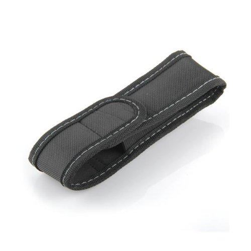 Funda de Linterna con Tapa y Clip para Cintura Cinturón de Nylon Negro