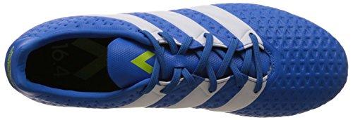 adidas Ace 16.4 FxG, Chaussures de Foot Homme, Mehrfarbig, UK Bleu (Shock Blue/Footwear White/Semi Solar Slime)