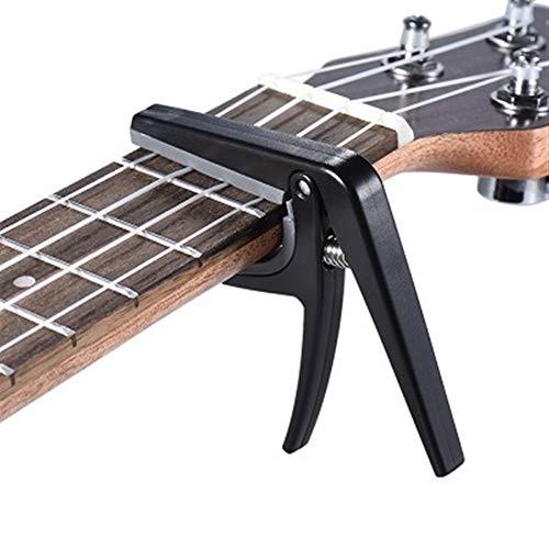 Professionale Ukulele Capo sola mano Quick Change Ukulele Capo Plastica Acciaio chitarra nera Ricambi e Accessori (Color : AS SHOW)