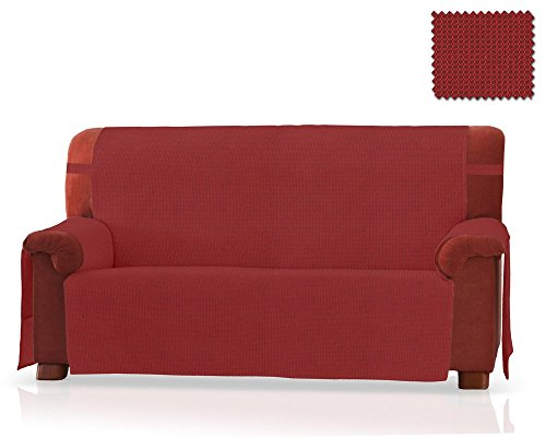 Jm textil salvadivano gea dimensione 3 piazze (160 cm.), colore rosso