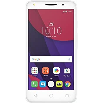 "Alcatel Pixi 4 - Smartphone, 5"", 8GB, 3G, Quad Core 1.3 GHz, 1 GB de RAM, cámara de 8 MP, Android 6, color negro/blanco"