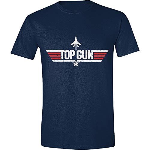 Top Gun Herren T-Shirt Film Logo Baumwolle blau - XL