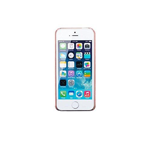 Apple iPhone SE / 5S / 5   iCues Hard Candy Rose Case   [Protecteur d'écran, y compris] protection de la peau Couvercle de protection Couvercle Coque Housse Sac Étui Case Cover rose