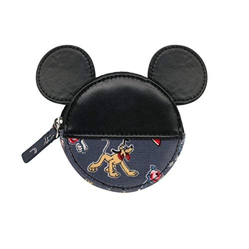 Cath Kidston Shaped Coin Purse - Mickey & Friends - Slate Grey